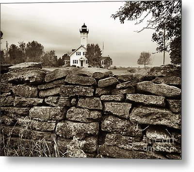 Stony Point Lighthouse Metal Print