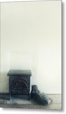 Stool And Shoes Metal Print by Joana Kruse