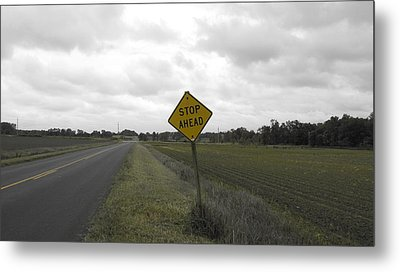 Stop Ahead Metal Print by Francesco Plazza