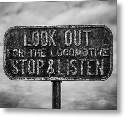 Stop And Listen Metal Print by Steve Stanger