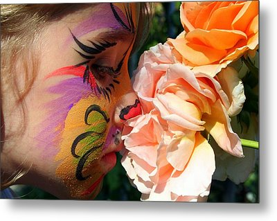 Metal Print featuring the photograph Stop And Smell The Roses by Debra Kaye McKrill