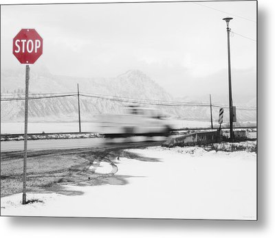 Stop - In The Name Of Love Metal Print by Theresa Tahara
