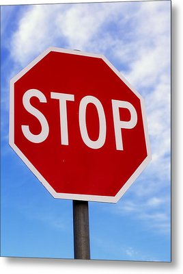 Stop Sign Ireland Metal Print by The Irish Image Collection