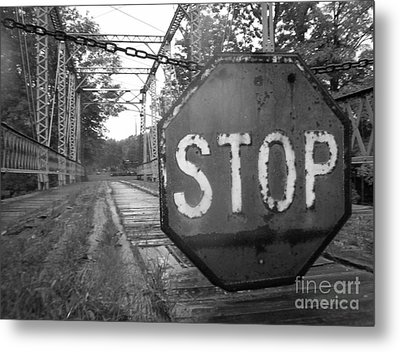 Metal Print featuring the photograph Stop Sign by Michael Krek