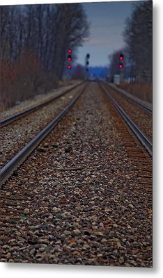 Metal Print featuring the photograph Stop The Train by Rowana Ray