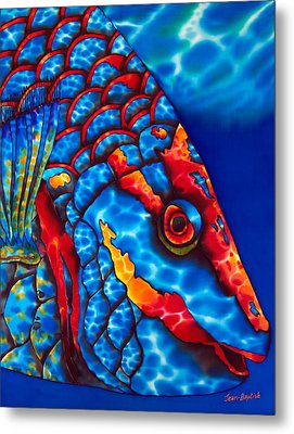 Stoplight Parrotfish Metal Print by Daniel Jean-Baptiste