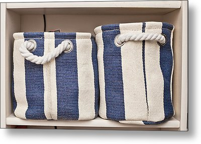 Storage Baskets Metal Print