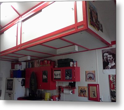 Storage Loft In Studio Metal Print
