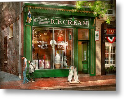 Store Front - Alexandria Va - The Creamery Metal Print by Mike Savad