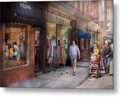 Store Front - Hoboken Nj - People Metal Print