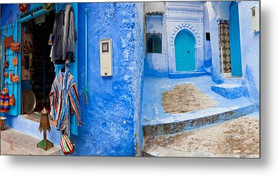 Store In A Street, Chefchaouen, Morocco Metal Print by Panoramic Images