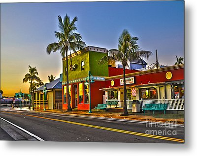 Store On Fort Myers Beach Florida Metal Print by Timothy Lowry