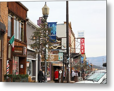 Storefront Shops In Truckee California 5d27489 Metal Print by Wingsdomain Art and Photography