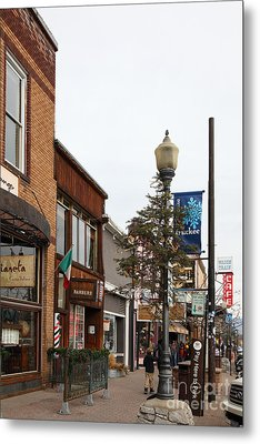 Storefront Shops In Truckee California 5d27490 Metal Print by Wingsdomain Art and Photography