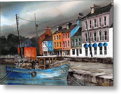 Storm A Brewing Bantry Cork Metal Print by Val Byrne