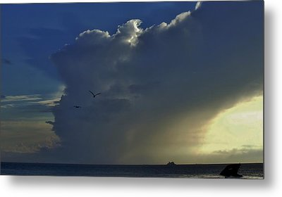 Metal Print featuring the photograph Storm Across Delaware Bay by Ed Sweeney