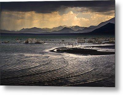 Storm At Mono Lake Metal Print