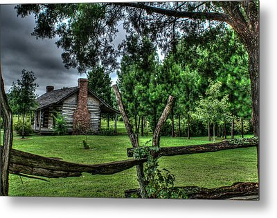 Storm At The Old Home Place Metal Print