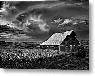 Storm Barn Metal Print by Latah Trail Foundation