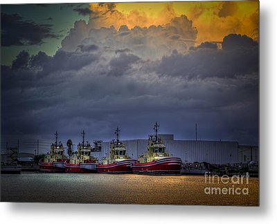 Storm Brewing Metal Print by Marvin Spates