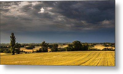Storm Brewing Over Corn Metal Print by Matthew Bruce