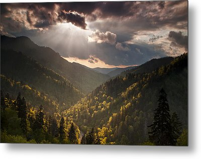 Storm Clouds Breaking Metal Print