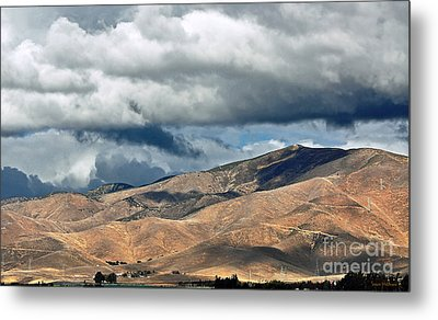 Storm Clouds Floating Above Mountains Metal Print