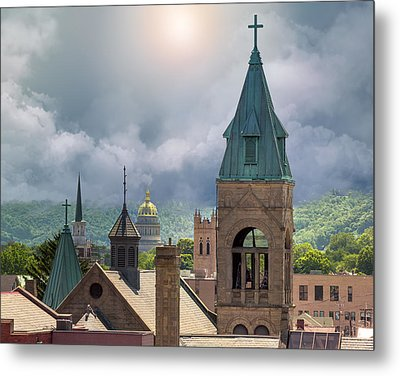 Storm Clouds In Charleston Wv Metal Print by Mary Almond