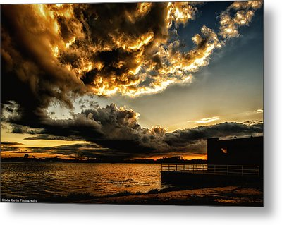 Metal Print featuring the photograph Storm Clouds by Linda Karlin