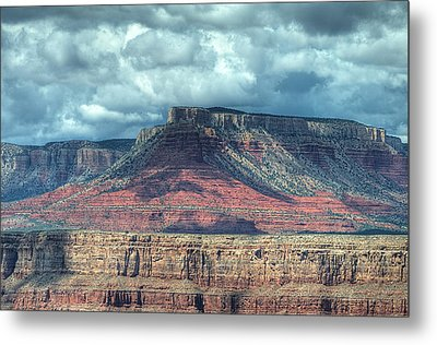 Storm Clouds Over Grand Canyon Metal Print by Donna Doherty