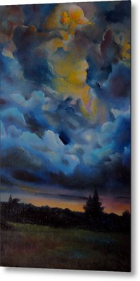 Storm Coming At The Sunset Metal Print by Alessandra Andrisani