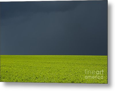 Storm Field Abstract Metal Print