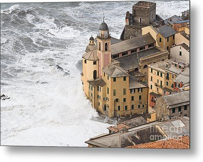 Storm In Camogli Metal Print by Antonio Scarpi