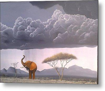 Storm In The Wild Metal Print by Hilton Mwakima