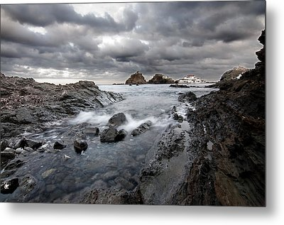 Storm Is Coming To Island Of Menorca From North Coast And Mediterranean Seems Ready To Show Power Metal Print by Pedro Cardona