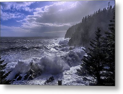 Storm Lifting At Gulliver's Hole Metal Print by Marty Saccone