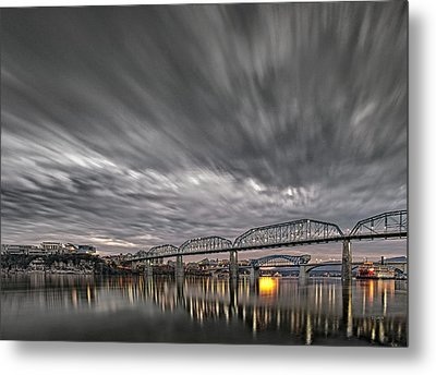 Storm Moving In Over Chattanooga Metal Print