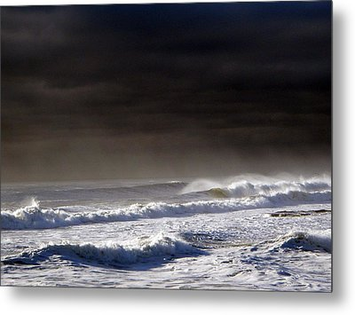 Storm Moving Out To Sea Metal Print by Anastasia Pleasant