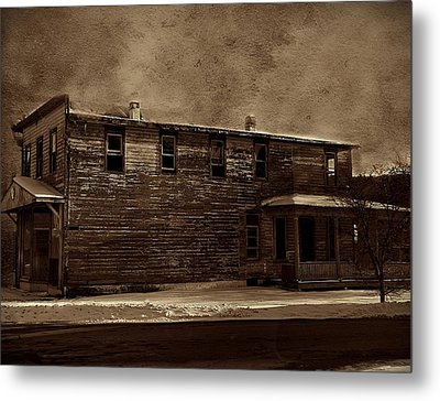 Storm Of 1888 Metal Print by David Dehner
