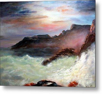 Storm On Mount Desert Island Metal Print by Lee Piper