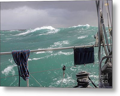 Metal Print featuring the photograph Storm On Tasman Sea by Jola Martysz