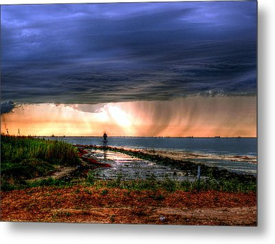 Storm On The Bay Metal Print