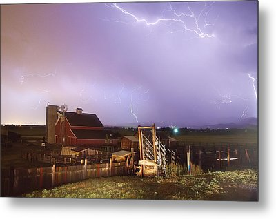 Storm On The Farm Metal Print by James BO  Insogna