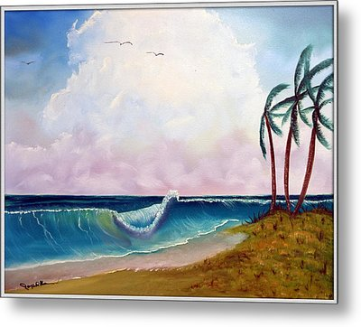 Storm On The Horizon Metal Print by Joyce Krenson