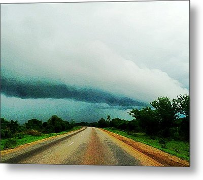 Storm On The Horizon Metal Print by Zinvolle Art