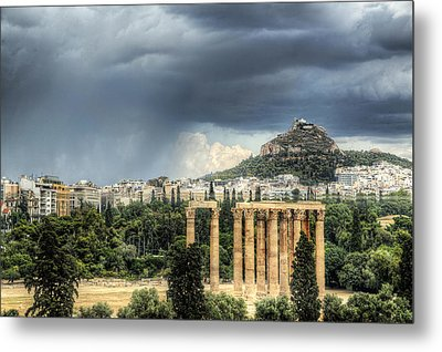 Metal Print featuring the photograph Storm Over Athens by Micah Goff