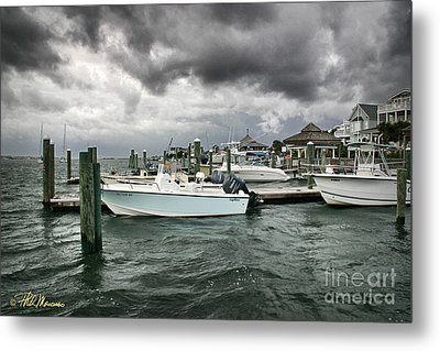 Metal Print featuring the photograph Storm Over Banks Channel by Phil Mancuso