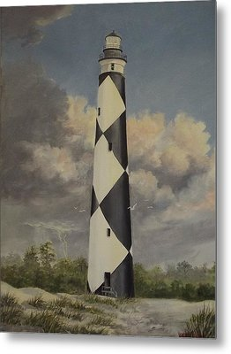 Storm Over Cape Fear Metal Print by Wanda Dansereau