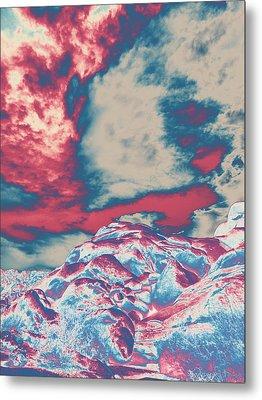 Storm Over Indian Canyon Metal Print by Carolina Liechtenstein