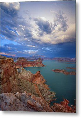 Storm Over Lake Powell Metal Print by Ray Mathis